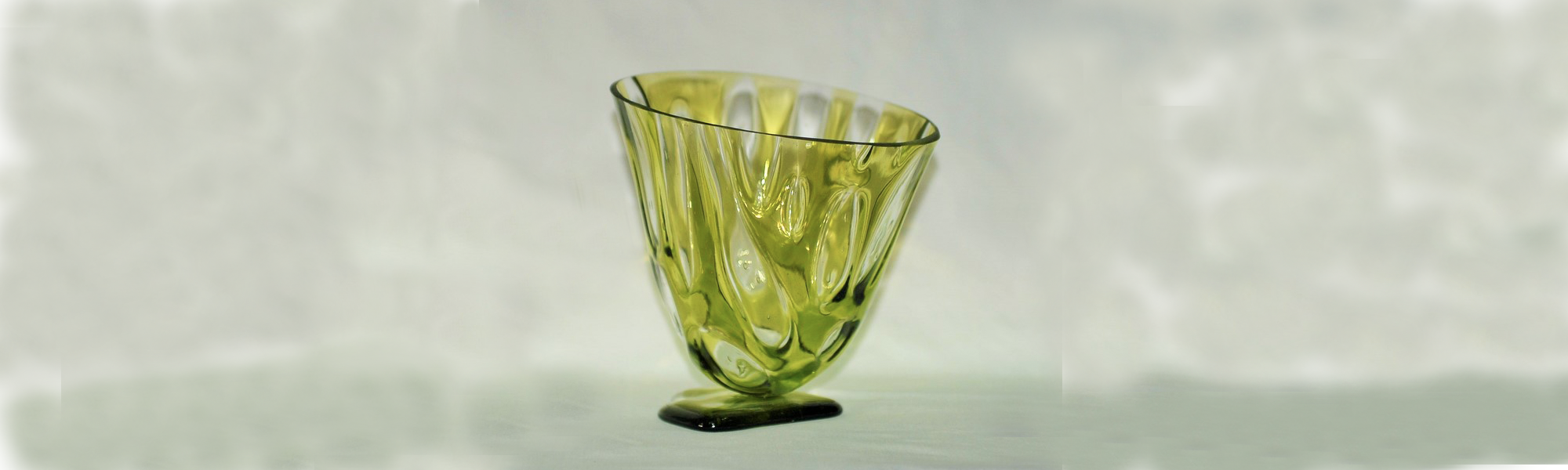 Fused Glass Drop Vessel